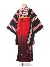 ジュニア(13女)jh1363 黒縞/橙袴87