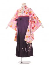 ジュニア(13女)jh1317ピンクの小花/紫