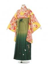 ジュニア(13女)jh1360 黄色古典/緑袴87