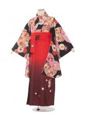 ジュニア(13女)jh1352 黒赤古典レトロ/袴87