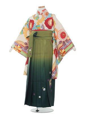 小学生卒業袴レンタル(女の子)1356 生成りレトロ/袴87