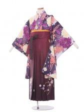 ジュニア(13女)jh1333 紫大花/ワイン