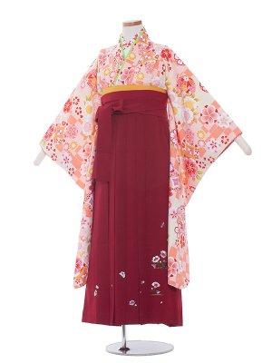 小学生卒業袴レンタル(女の子)1330 ピンク/赤