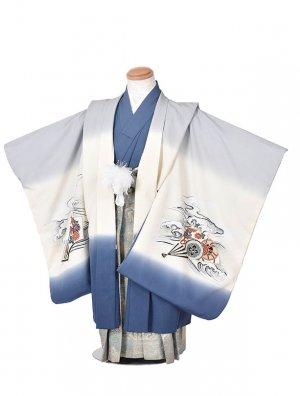 753レンタル(5歳袴)FF111うすブルーカブト